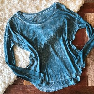 NWT | Chaser | Teal Burnout Long Sleeved Top